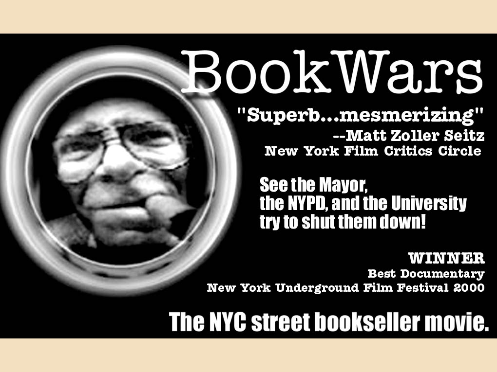 Original newsprint ad for 'BookWars', an award winning movie by filmmaker Jason Rosette